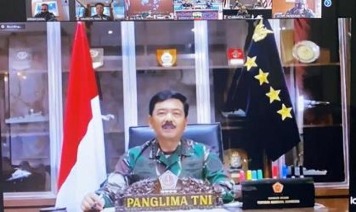 Panglima TNI Pimpin Rapat Penegakkan Disiplin Kesehatan Cegah Penyebaran Corona