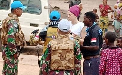 Satgas TNI Konga XXXIX-B RDB Monusco Bebaskan Sandera Warga Amerika di Kongo