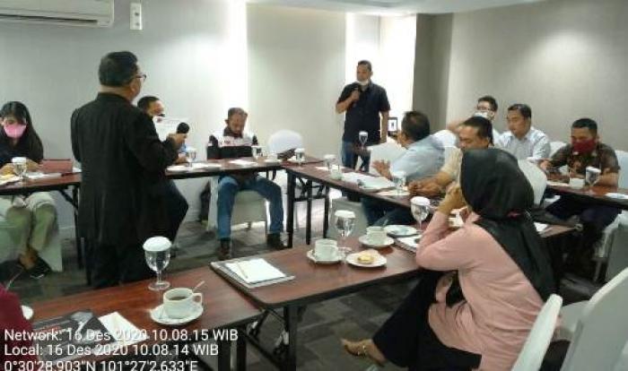 Alexander Pranoto Buka Pelatihan Wartawan PJC Di Riau